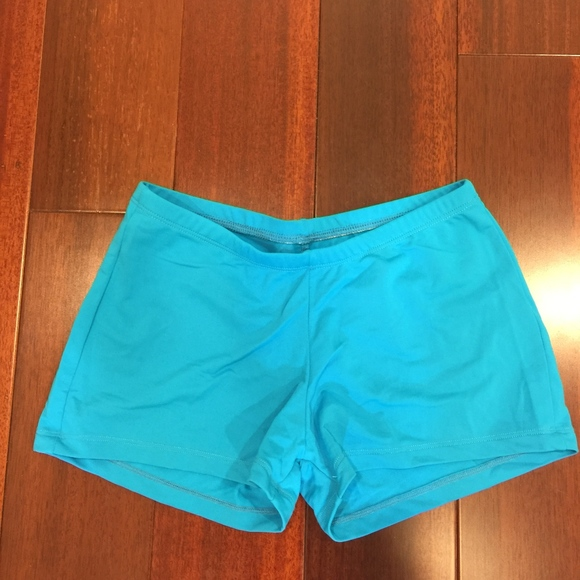Natalie Dancewear Pants - Natalie Dance Wear Blue Shorts Small